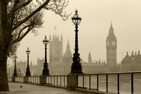 Big Ben   Houses of Parliament, London in fog