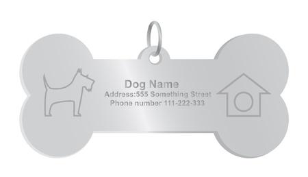 Illustration pour identity tags for dog - image libre de droit