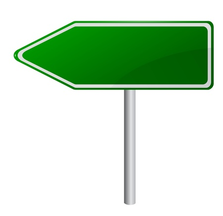 Blank Green Road Sign, eps10, gradient