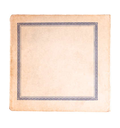 Photo pour Classical antique old square book cover empty inside, blank retro book frame. - image libre de droit