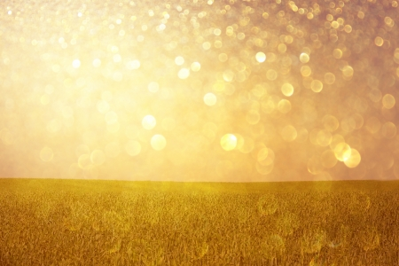 golden lights abstract background  or summer background of glitter lights