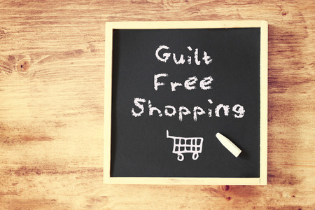 guilt free shopping concept