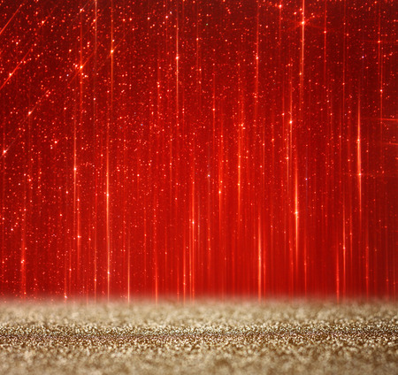Photo pour red and gold abstract bokeh lights  defocused background - image libre de droit