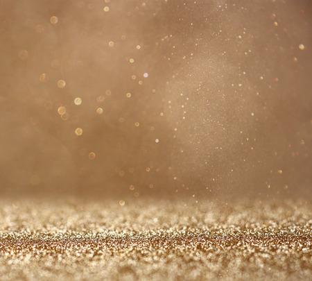 Photo pour glitter vintage lights background. abstract gold background . defocused - image libre de droit