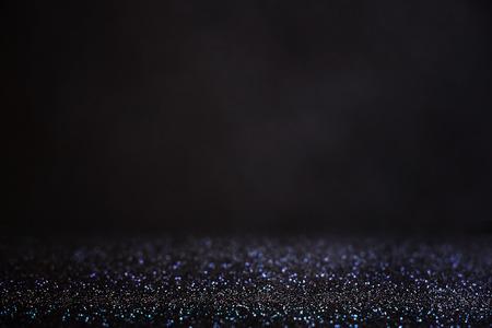 Photo pour glitter vintage lights background. light silver and black. defocused. - image libre de droit