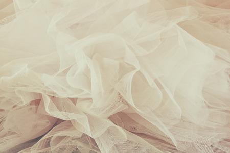 Foto de Vintage tulle chiffon texture background. wedding concept - Imagen libre de derechos