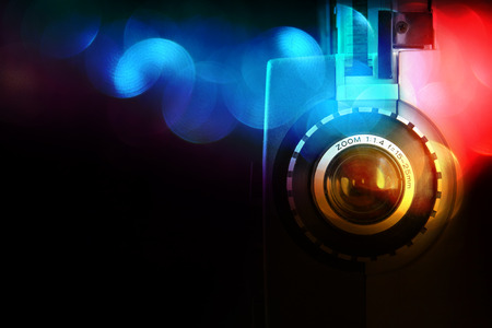 Photo for close up of old 8mm Film Projector lens - Royalty Free Image
