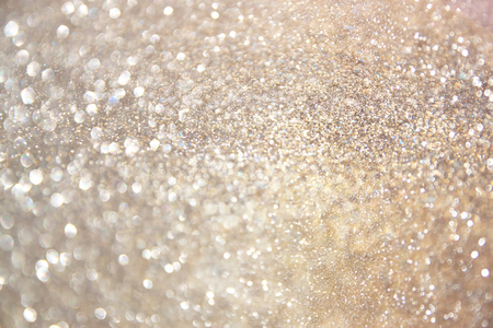 Photo for glitter vintage lights background. gold, silver, and white. de-focused. - Royalty Free Image