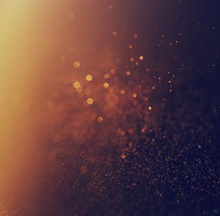 Photo pour glitter vintage lights background. gold and black. defocused. - image libre de droit