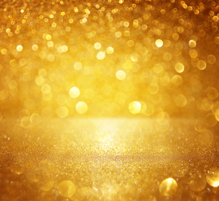 Photo pour glitter vintage lights background. gold, silver. defocused - image libre de droit