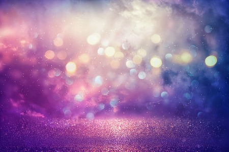 Photo pour Purple glitter lights background. defocused - image libre de droit