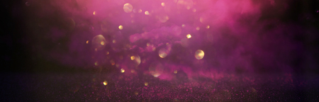 Photo for glitter vintage lights background. silver, black, purple and gold. de-focused - Royalty Free Image