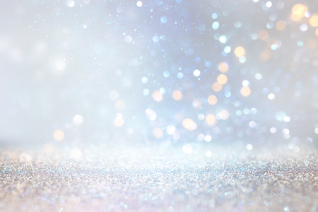 Photo for glitter silver and gild lights background. de-focused - Royalty Free Image
