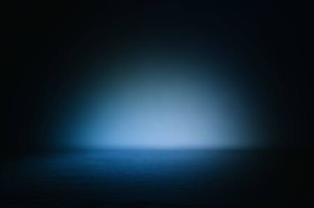 Photo pour Background of abstract dark concentrate floor scene with mist or fog, spotlight and display - image libre de droit