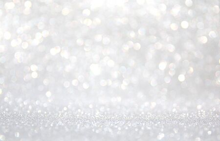 Photo pour background of abstract glitter lights. silver and white. de-focused - image libre de droit