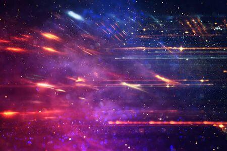 Photo pour background image of bokeh light burst made from flare motion - image libre de droit