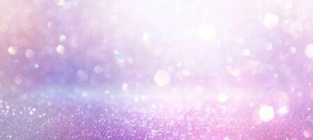 Foto für abstract glitter pink, purple and gold lights background. de-focused. banner - Lizenzfreies Bild