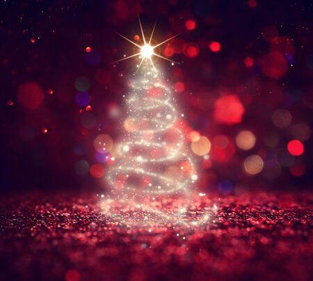 Foto für background of Christmas tree with defocused glitter lights - Lizenzfreies Bild