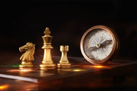 Photo pour Image of chess game. Business, competition, strategy, leadership and success concept - image libre de droit