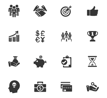 Business vector icons for user interface designのイラスト素材