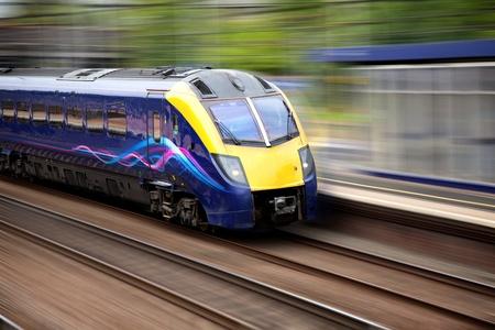 Fast moving modern train