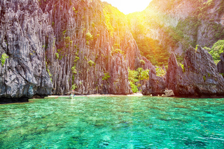 Beautiful landscape scenery in El Nido, Philippines