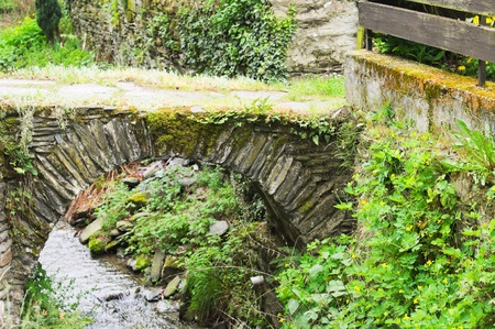 Foto per Little stone bridge over a stream in the park (Bacharach, Germany, Europe) - Immagine Royalty Free