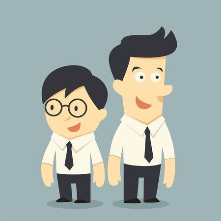 Illustration pour businessman buddy - image libre de droit