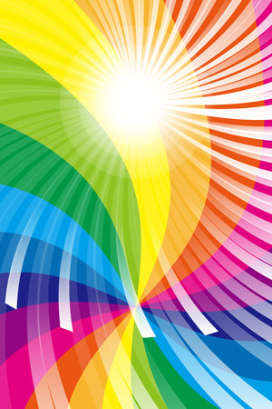 Wallpaper material, Rainbow, rainbow color, colors, colorful, radiation, party, light, shine, cute, fun