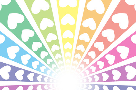 background material intensive line radiant heart pattern rainbow