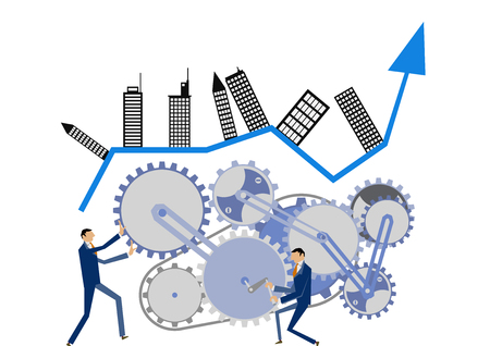 Foto für Gear and businessman clip art. Image of business. Business clip art. - Lizenzfreies Bild