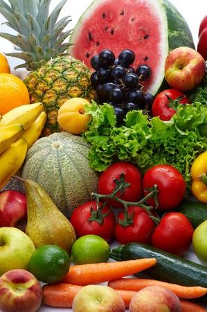 Foto für Group of different fruit and vegetables - Lizenzfreies Bild