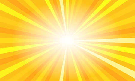Illustration for Yellow sun rays. Summer banner with burst - Royalty Free Image