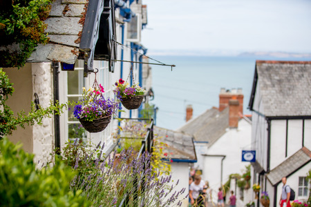 Photo for Beautiful view of the streets of Clovelly, nice old village in the heart of Devonshire, England - Royalty Free Image