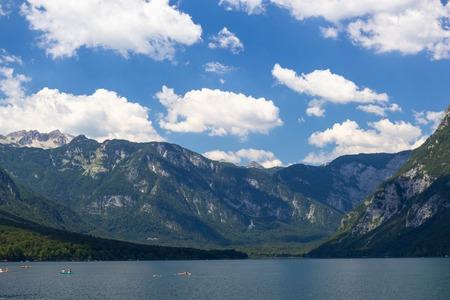 Photo pour view of Lake Bohinj, Triglav National Park, Julian Alps, Slovenia - image libre de droit