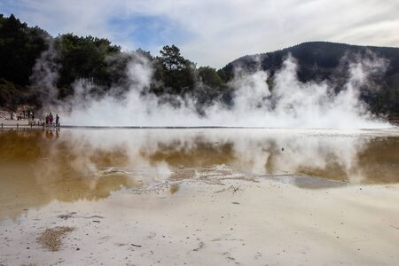 Champagne Pool an active geothermal area, North island, New Zealand