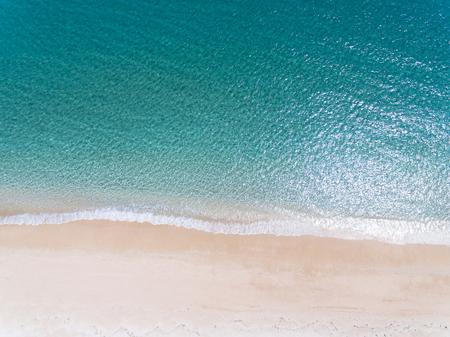 Aerial view of beautiful sandy beach
