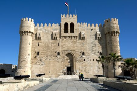 The Citadel of Qaitbay situated on the eastern harbour at Alexandria in Egypt.