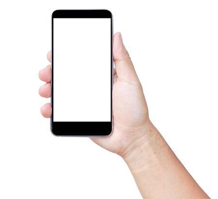 Photo pour Touch screen smartphone, in hand - image libre de droit