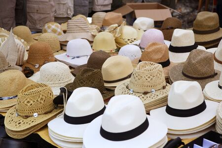 varied fashion hats showcase perspective market shop