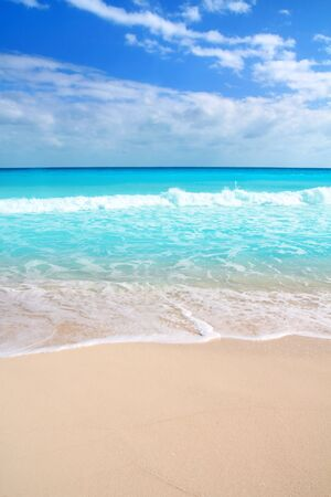 Caribbean turquoise beach perfect sea sunny day Mayan Riviera