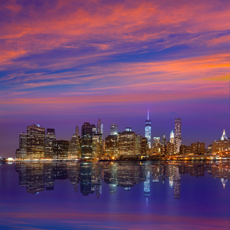 Ultraviolet Sunset Over New York