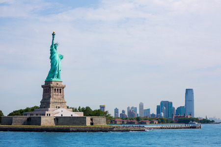 Statue of Liberty New York Manhattan background USA US