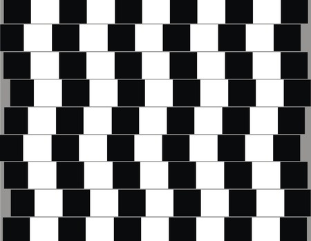 Lines are parallel but seem to be slanted optical illusion