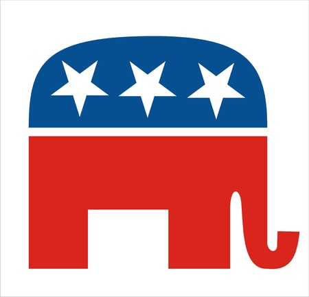 very big size republicans party elephant symbol