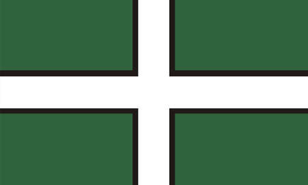 very big size devon english county flag