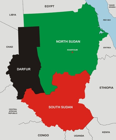 very big size political map of sudan south sudan and darfur