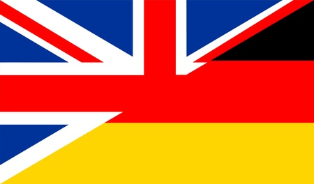 very big size half united kingdom half germany flag