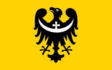 very big size dolnoslaskie Poland flag illustration