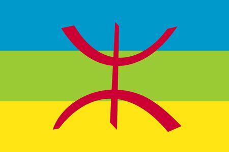 very big size berber people republic flag